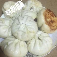 小白菜肉煎包