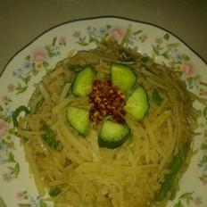 金针菇炒土豆丝
