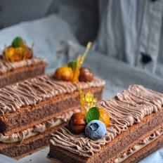冬日栗子巧克力蛋糕