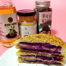 宝宝辅食 芋头紫薯糯米饼