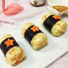 宝宝辅食  三文鱼米饭寿司
