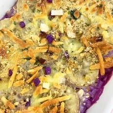 宝宝辅食  紫薯烤燕麦