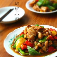 彩椒炒鸡块