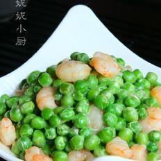豌豆烩虾仁