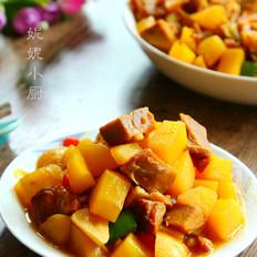 酱肘子肉炖土豆