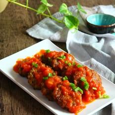 茄汁西葫芦猪肉饼
