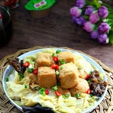 油豆腐塞肉炖白菜