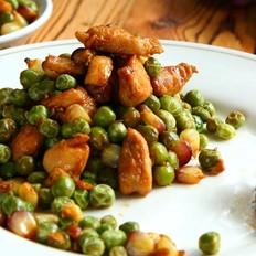 豌豆玉米炒鸡丁