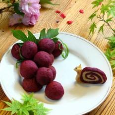 紫薯山药芝士球的做法