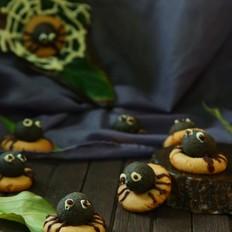 万圣节搞怪——蜘蛛饼干