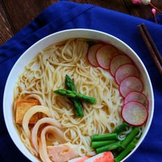 味增杂蔬汤面