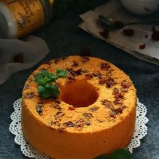 椰子油蔓越莓戚风蛋糕