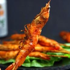 孜然烤串串虾