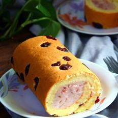 草莓酱奶冻蛋糕卷