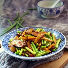 春笋蒜苔炒腊肉