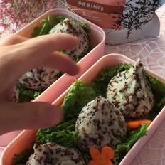 三色藜麦饭团