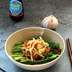 虾干油麦菜