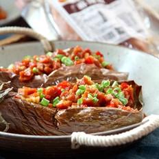 麻辣腸烤茄子的做法
