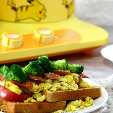开放三明治的做法