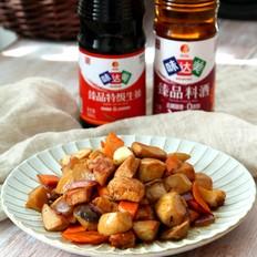杏鲍菇炒鸡胸肉的做法