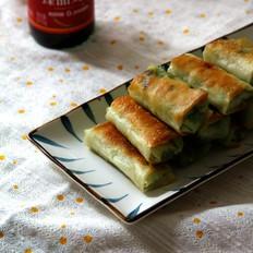 饺子皮韭菜蟹柳春卷