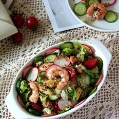 藜麦虾仁蔬菜沙拉的做法