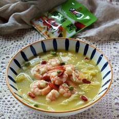 鲜虾金汤白菜的做法