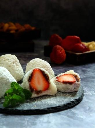 糯米版草莓大福的做法