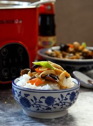脱糖菌菇饭的做法