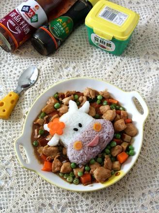 酱爆鸡丁炒豌豆