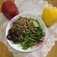 肉丝炒四季豆
