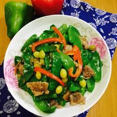 豌豆炒肉片