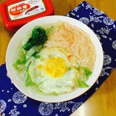青菜鸡蛋米粉