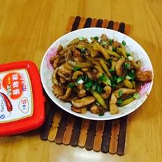 猪颈肉炒榨菜