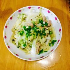 肉片炒大白菜