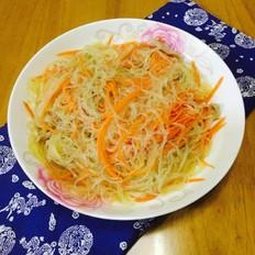 胡萝卜炒粉丝