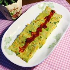 芹菜叶胡萝卜鸡蛋饼