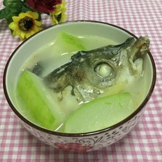 节瓜鱼头汤