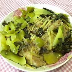 紫苏榨菜蒸鱼块的做法