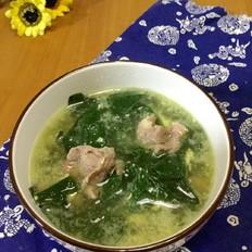肉片豆叶汤
