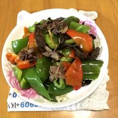 菜椒炒鸡肾