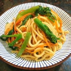 杂菜炒面条