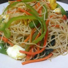 杂菜炒米粉
