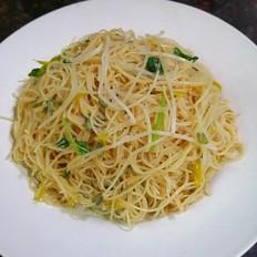 绿豆芽苗菜炒米粉