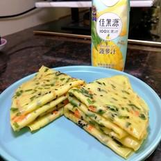菠萝汁鸡蛋饼的做法