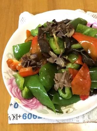 菜椒炒鸡肾的做法