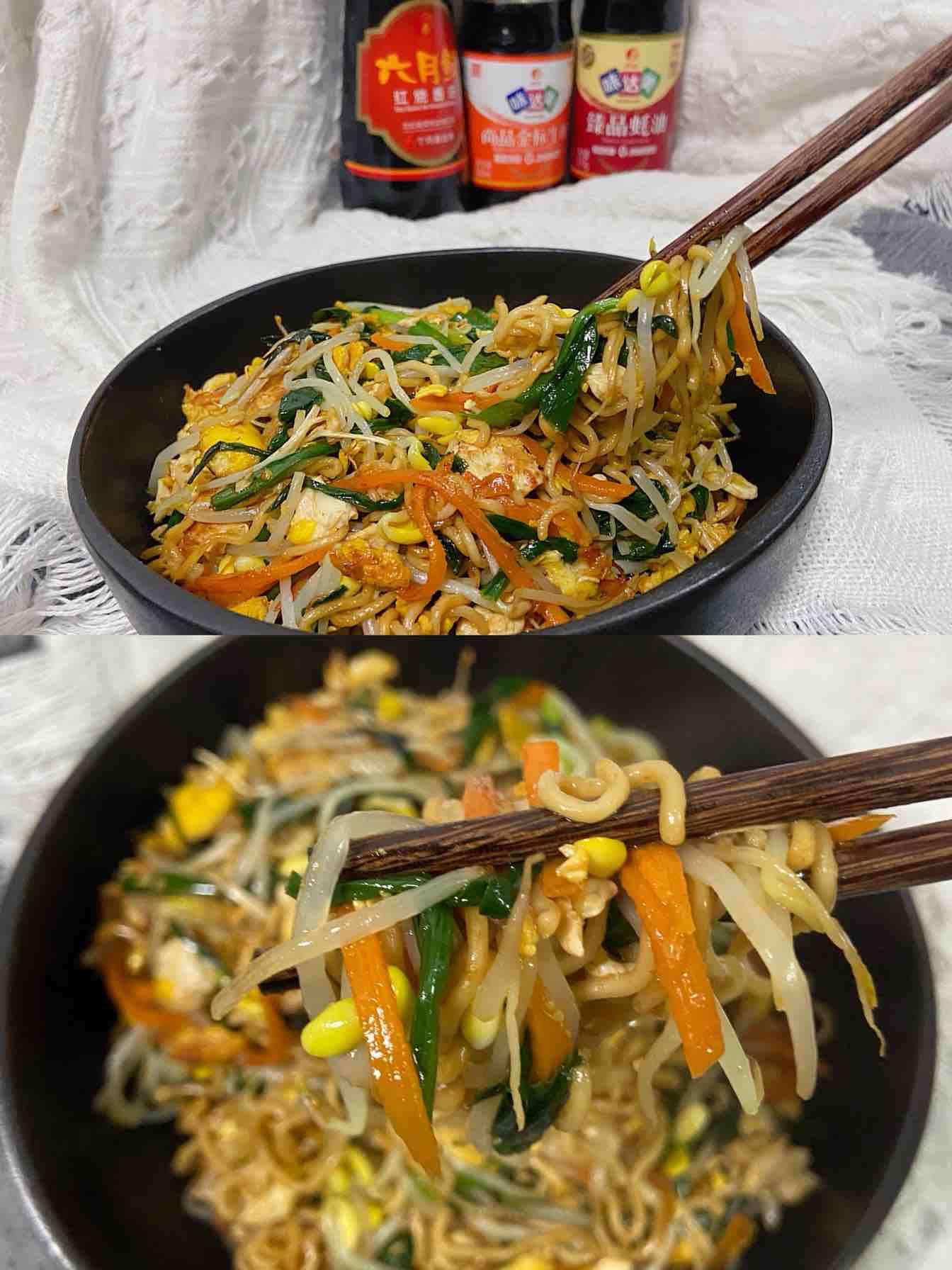 二月韭菜正当时之韭菜炒面的做法
