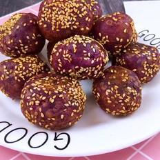紫薯小麻薯