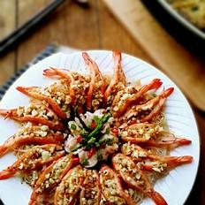 金银蒜蒸粉丝虾