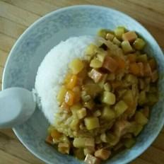 南瓜土豆咖喱饭